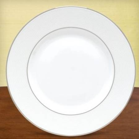 Opal Innocence Stripe Dinner Plate