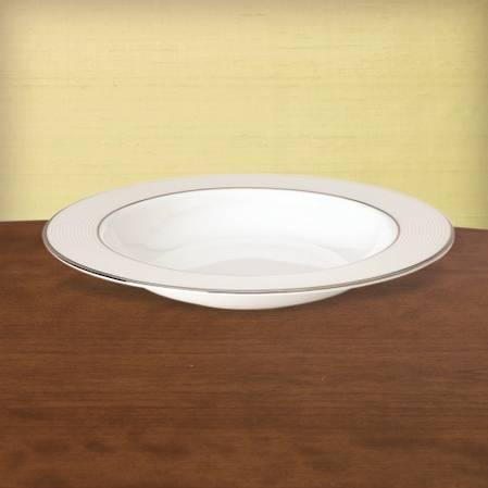 Opal Innocence Stripe Pasta / Rimmed Soup Bowl