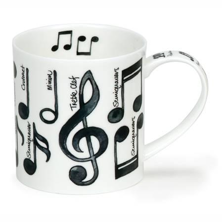 Dunoon Music Notes Mug