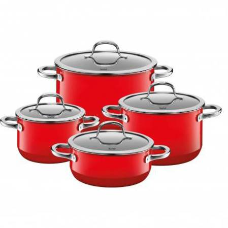 Silit Passion Red Cookware Set 4 Piece