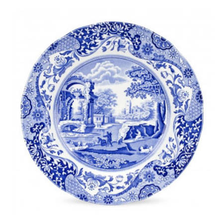 Blue Italian Lunch Plate