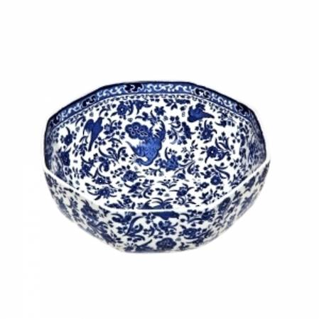 Regal Peacock Hexagonal Bowl