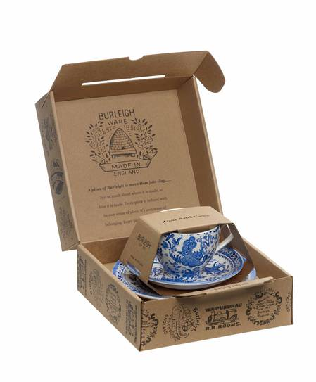 Regal Peacock Tea Cup, Saucer and Plate