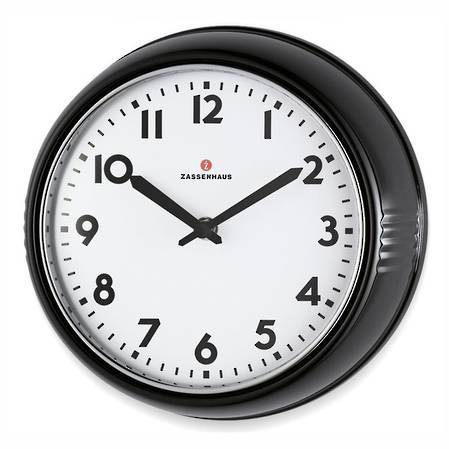 Zassenhaus Retro Clock - Black