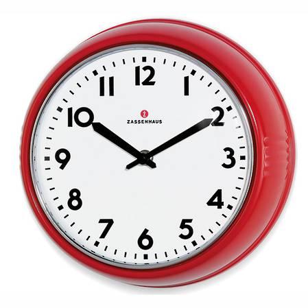 Zassenhaus Retro Clock - Red