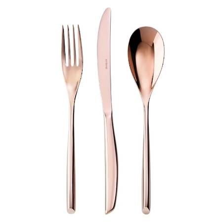 Bamboo PVD Copper 58 Piece Cutlery Set