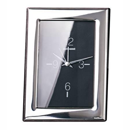 Flat Silver Clock