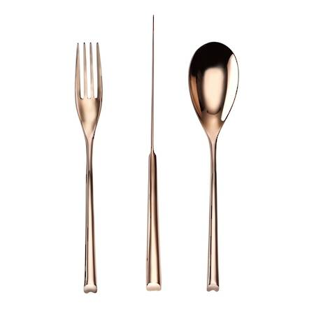 H-Art PVD Copper 58 Piece Cutlery Set