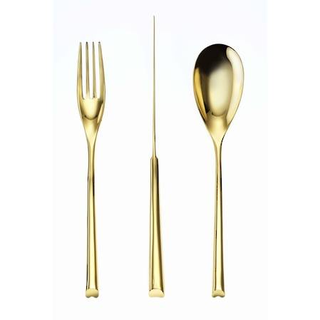 H-Art PVD Gold 24 Piece Cutlery Set