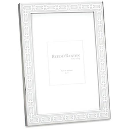 Silver Link White Photoframe
