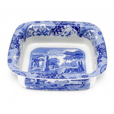 Blue Italian Square Rimmed Dish