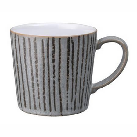 Denby Stripe Mug Dark Grey