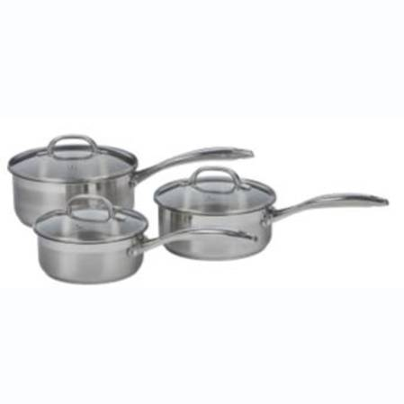 Swiss Diamond Premium Steel 3 piece Saucepan Set
