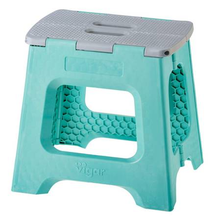 Vigar Compact Turquoise Stool 32cm