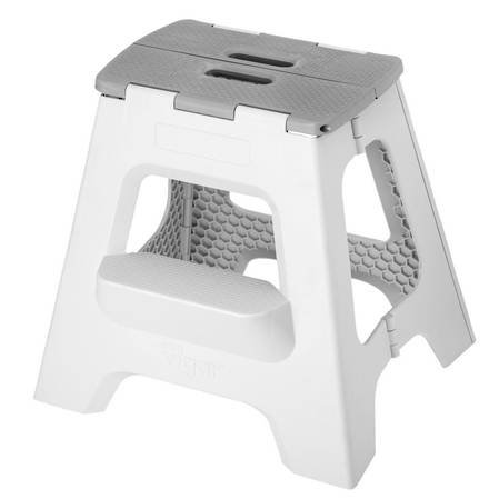 Vigar Compact 2 Step Grey Stool 40cm