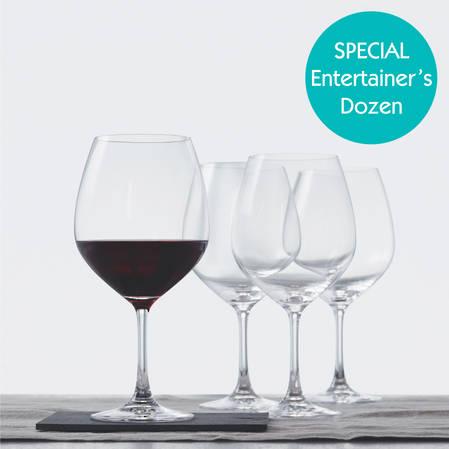 Entertainers Vino Grande Burgundy Glass Set