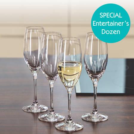 Entertainers Vino Grande Champagne Flute Set