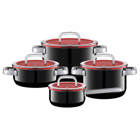 WMF Fusiontec Black 4 Piece Cookware Set