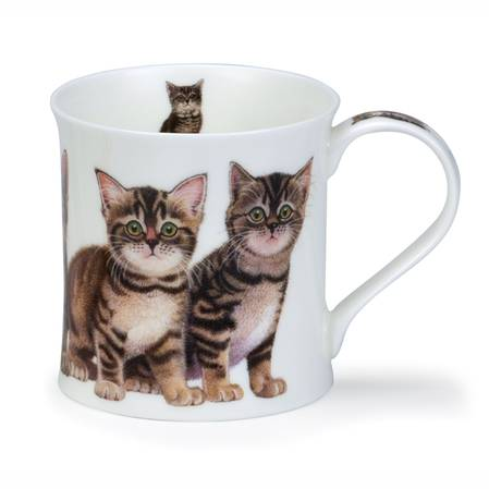 Dunoon Kittens Black and White Mug