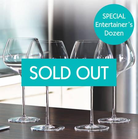 Entertainers Willsberger Anniversary Burgundy Glass Set