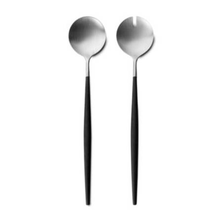Goa Black & Matt Stainless Salad Set 2 Piece