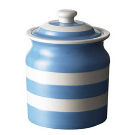 Cornish Blue Storage Jar