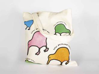Carry Bag with Colourful Kiwis