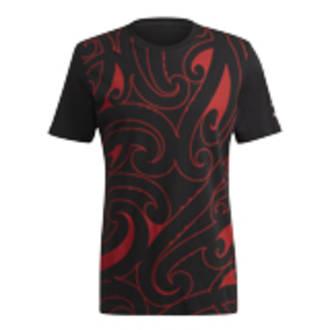 All Black Maori Graphic Hoodie