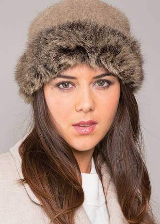 KO185 Koru Fur Trim Hat