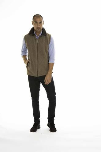 KO819 Koru Leather Trim Vest