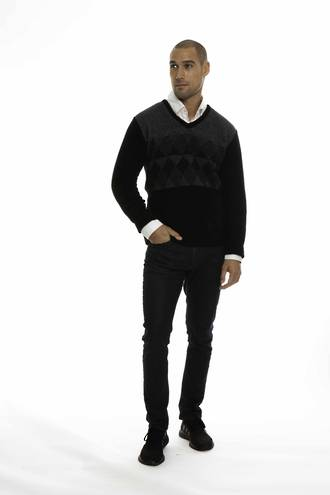 KO855 Three Colour Jumper