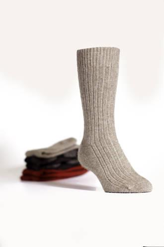 Merino Possum Koru Ribbed Socks