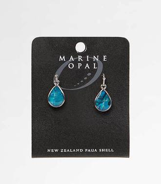MOE61 - Marine Opal Small Tear Drop Earrings