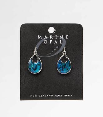 MOE81 - Marine Opal Tear Drop with Open Top Earrings