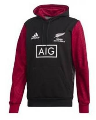 All Black Maori Graphic Hoody