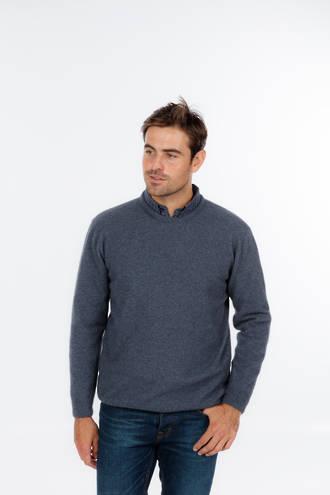 Merino Possum Crew Neck Plain Knit Sweater