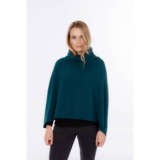 NB817 Polo Neck Poncho