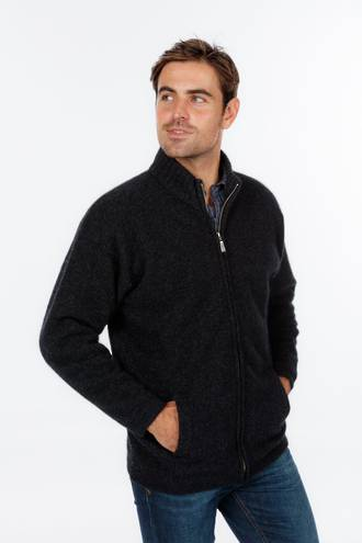 NE029 Mens Felted Zip Jacket with Pockets