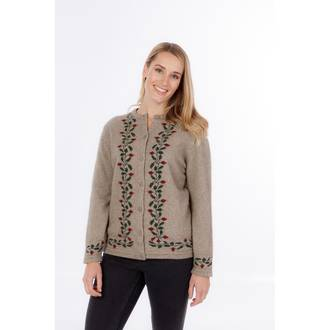 NE052 Button to Neck Climbing Petal Cardigan