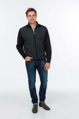 NE349 Marl Full Zip Jacket - Slim Fit