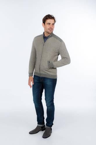NS234 Mens Rib Feature 2 Tone Jacket with Pockets