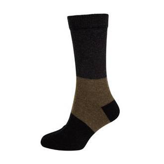 Merino Possum Block Stripe Sock
