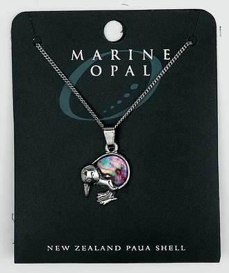 PJS15 - Marine Opal Fine Chain Necklace - Paua Kiwi Pink