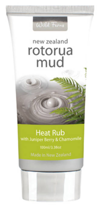 Wild Ferns Rotorua Mud Heat Rub with Juniper & Chamomile
