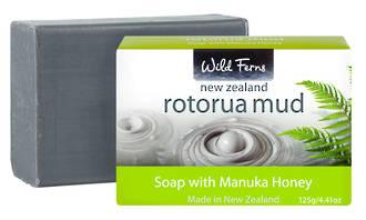 Wild Ferns Rotorua Mud  Soap with Manuka Honey  -  125gms