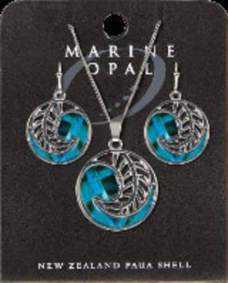 SET 113 Marine Opal Round Friends Set New Zealand Paua Shell