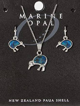 SET100 Marine Opal Kiwis Set New Zealand Paua Shell