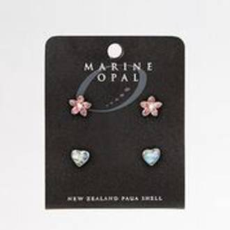 MOE92 - Marine Opal Set of 4 Stud Earrings