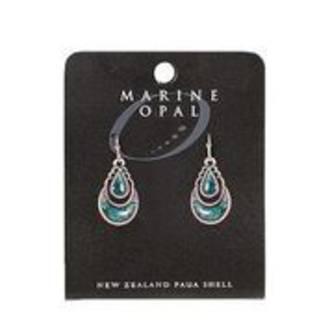 MOE111 - Marine Opal Drop Crystal Design Earrings