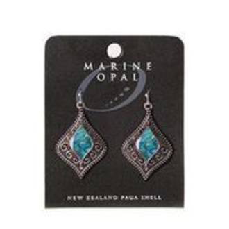 MOE112 - Marine Opal Drop Crystal Design Earrings
